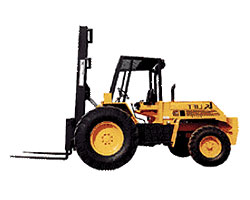 Types of Forklifts - Rough Terrain Forklifts